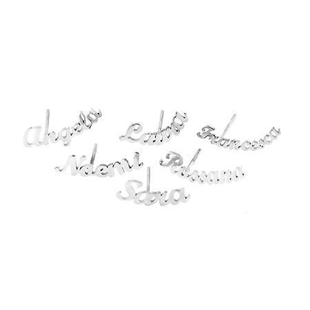 Mono-orecchini con nome in argento