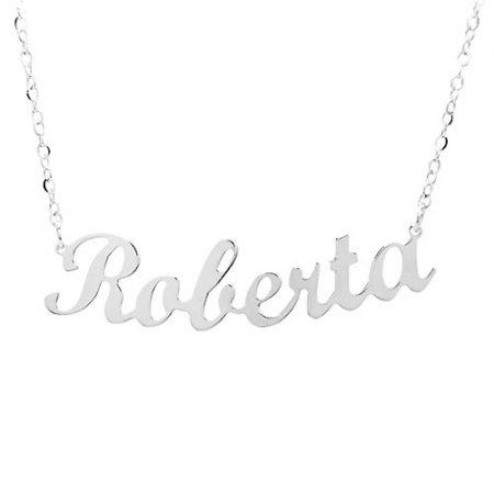 Collana in argento con nome