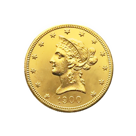 Moneta 10 dollari in oro del 1900
