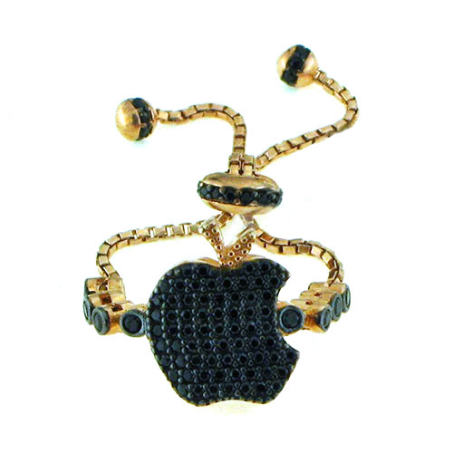 Anello moda a forma di mela