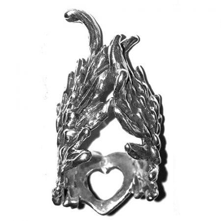 Anello in argento a forma di ali
