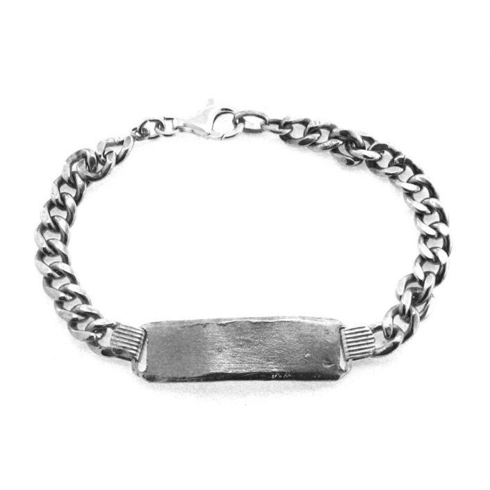 Bracciale con targa in argento (Modello 1)