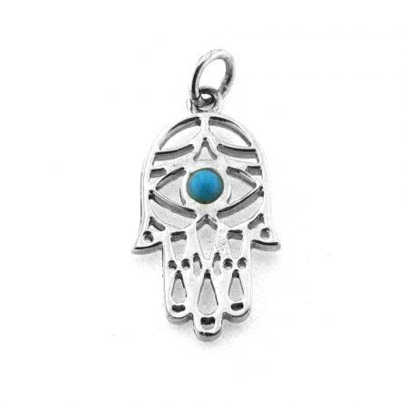 Ciondolo a forma di Mano di Fatima in argento