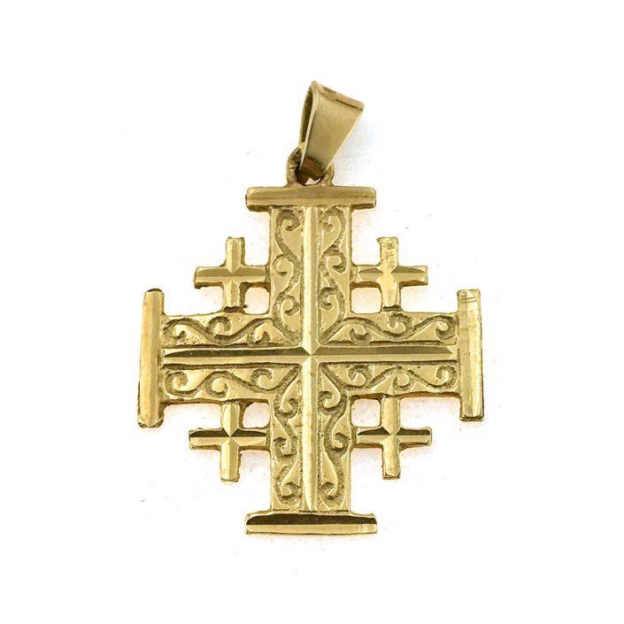 Ciondolo a forma di croce di gerusalemme grande