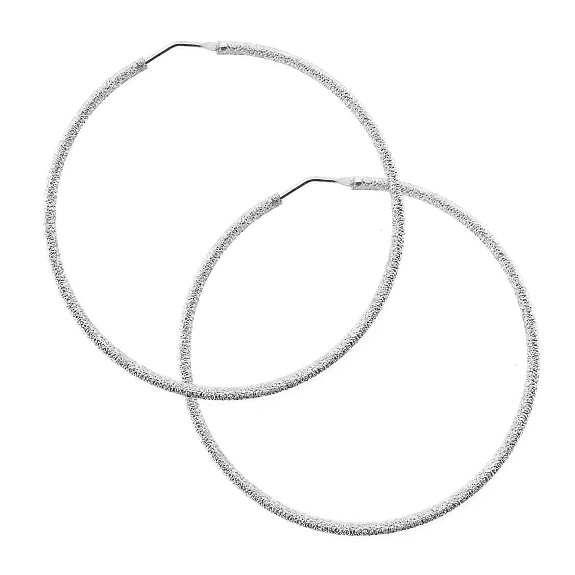 rivenditore di vendita 85f31 6aa5e Orecchini a cerchio diamantati in argento con diametro cannetta 2 mm