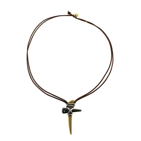 Collana con croce tribale