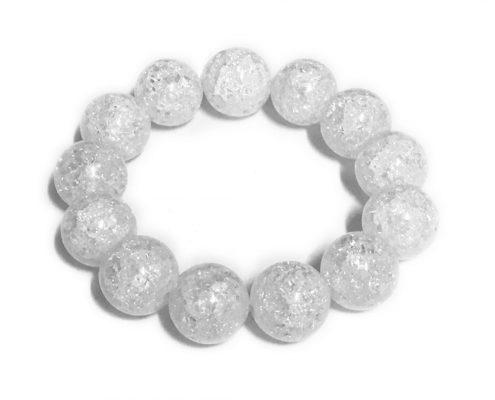 Bracciale in quarzo di rocca bianco