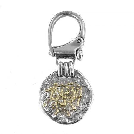 Ciondolo in argento con schizzi in oro Orlandini