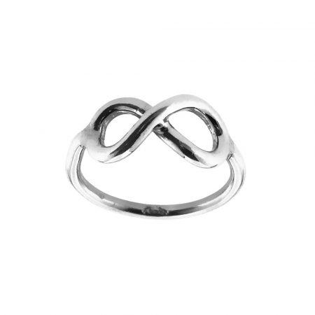 Anello in argento con il simbolo dell'infinito