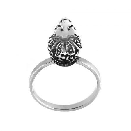 Anello in argento con corona