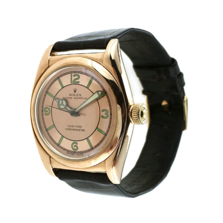 Orologio da polso Bubble Back Ovetto in oro rosa Rolex