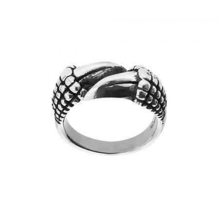 Anello artiglio drago in argento
