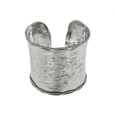 Bracciale schiava in argento lavorato