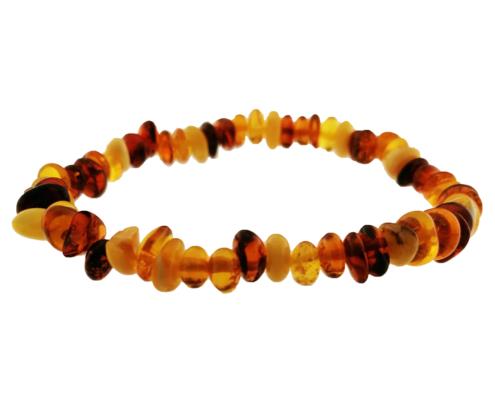 Bracciale elastico in ambra per bambino