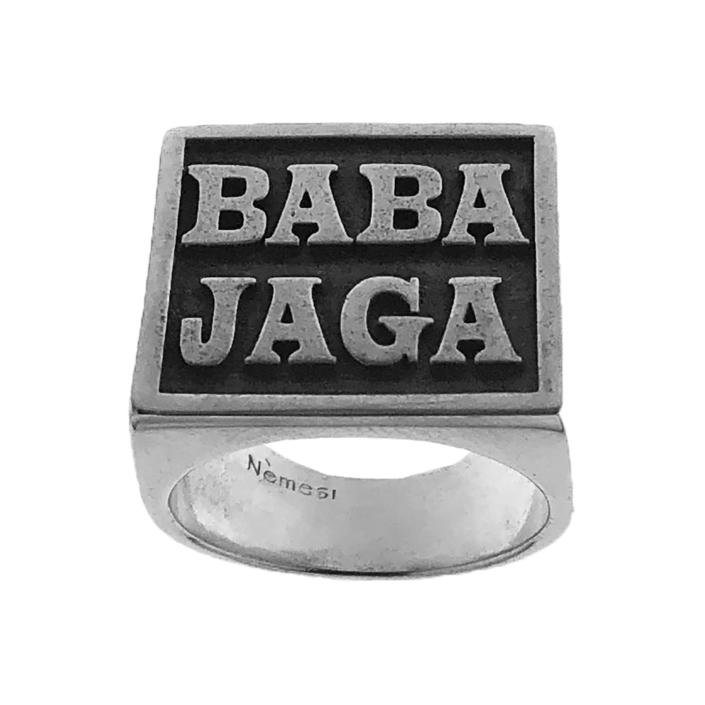 Anello scudo BABA JAGA in argento
