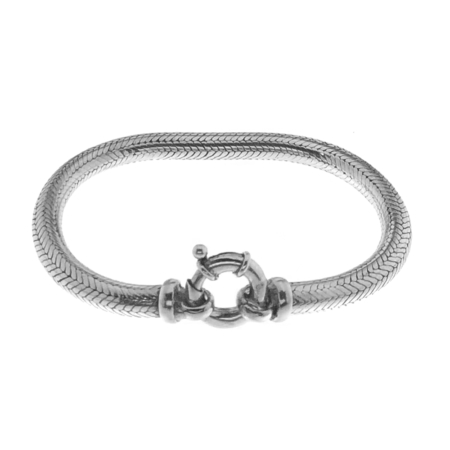 Bracciale Snake 6 mm in argento