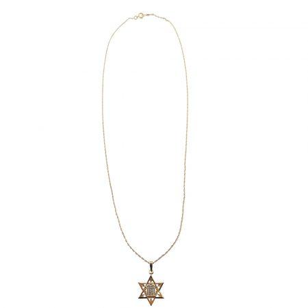 Collana con ciondolo stella di David in oro