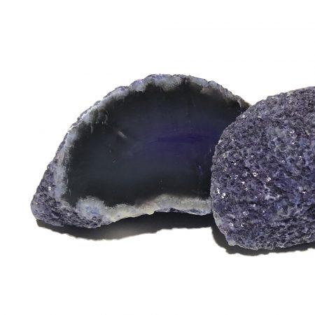 Coppia di geodi di agata tinta del Madagascar 427 gr cristalloterapia