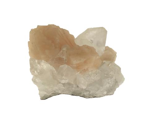 Stilbite rosa su apofillite 136 gr cristalloterapia