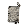 Ciondolo a forma di diario in argento
