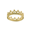 Anello fedina con motivo a corona